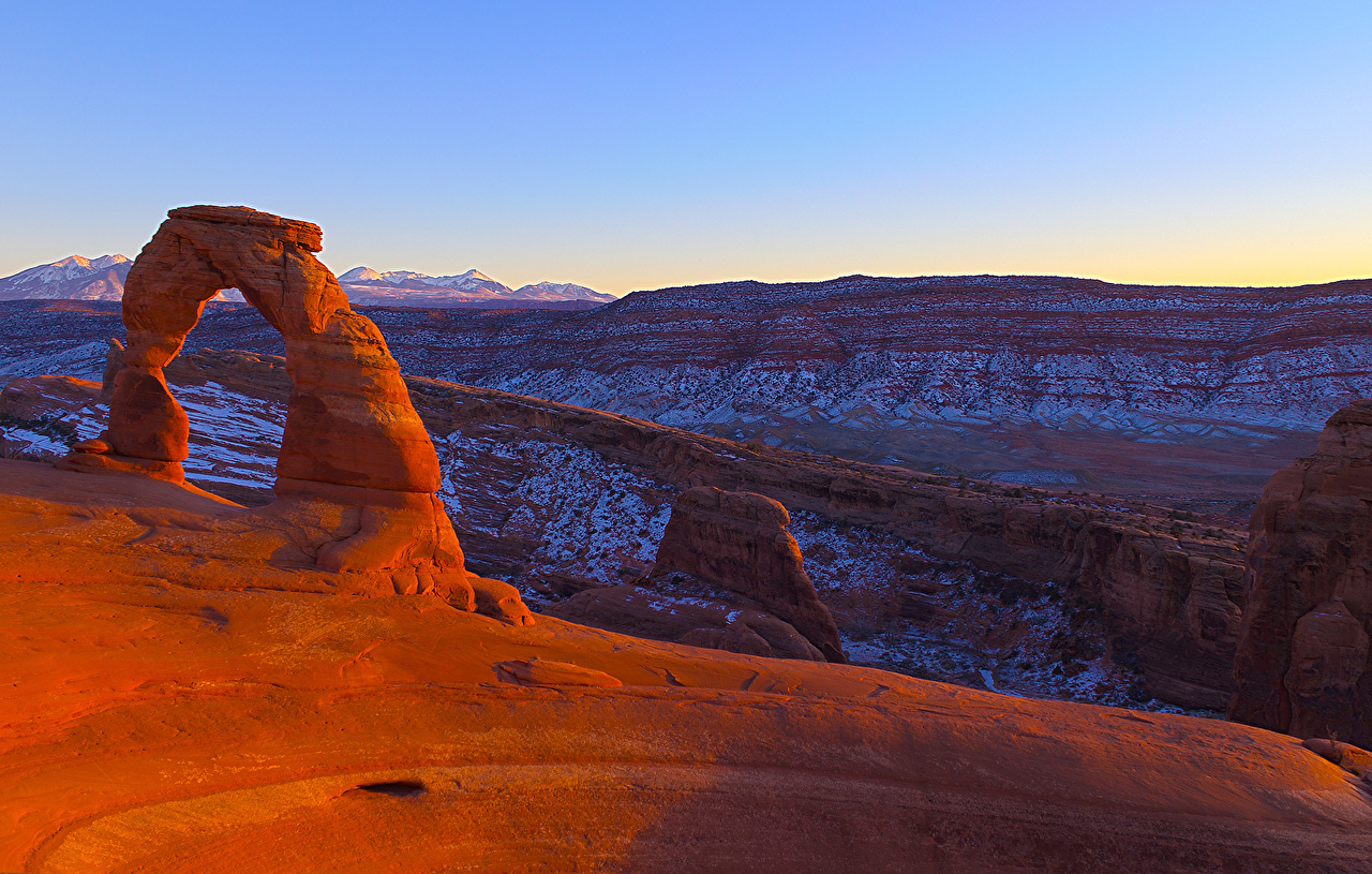 Image Usa Utah Arches National Park Cliff Nature Canyons Park