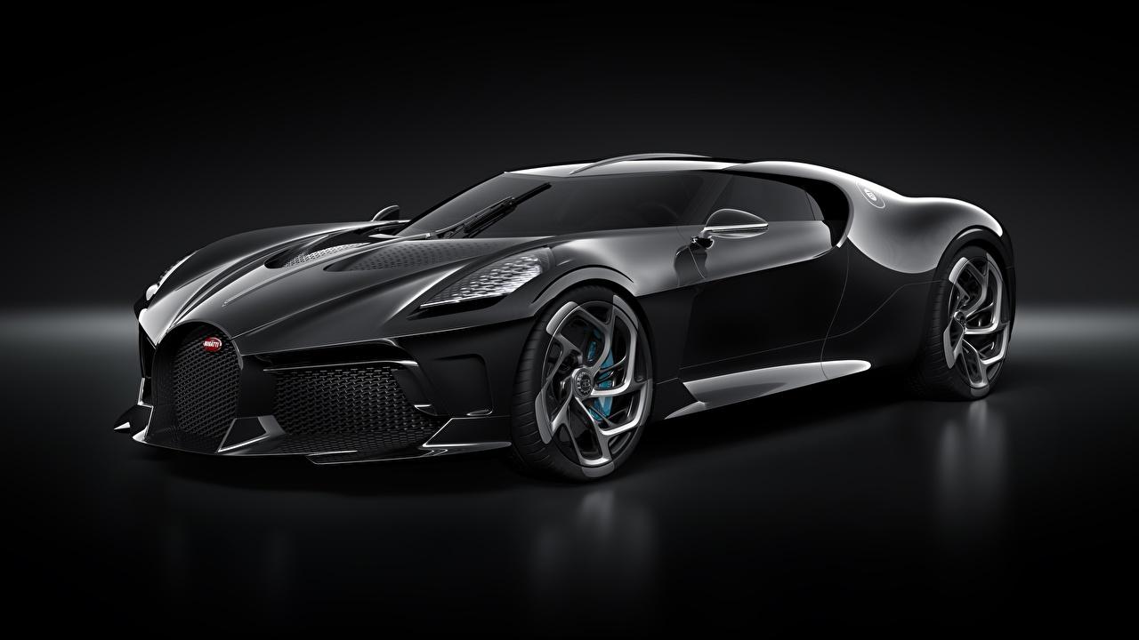 Desktop Wallpapers Bugatti La Voiture Noire Black Automobile