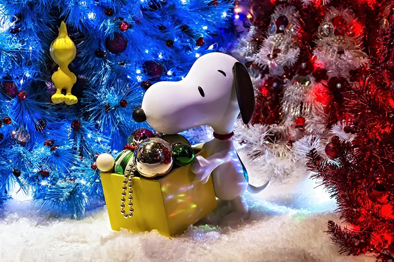 壁紙 玩具 新年 イヌ 祝日 Snoopy クリスマスツリー 動物