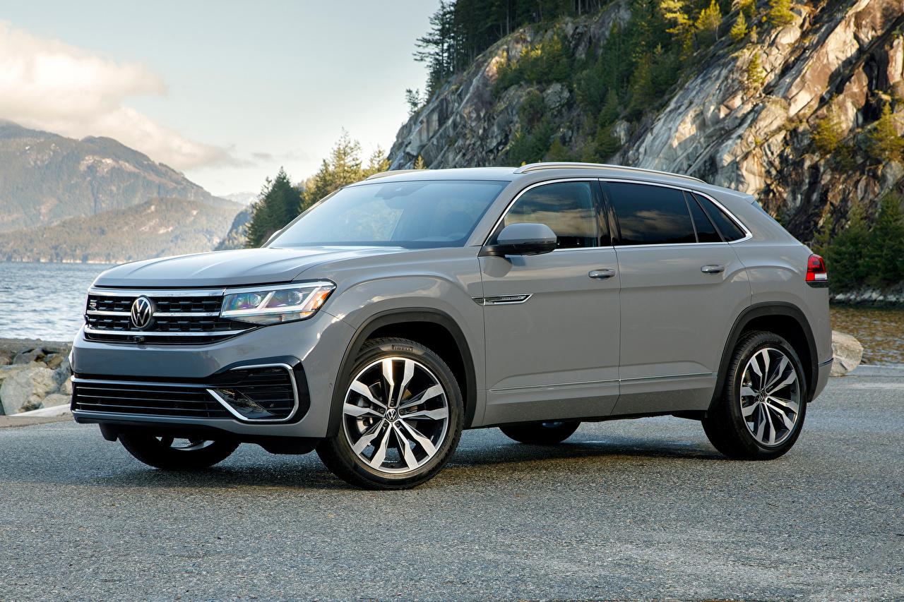 Volkswagen 2020 Atlas Cross Sport SEL R-Line Cinza Metálico Crossover carro, automóvel, automóveis Carros