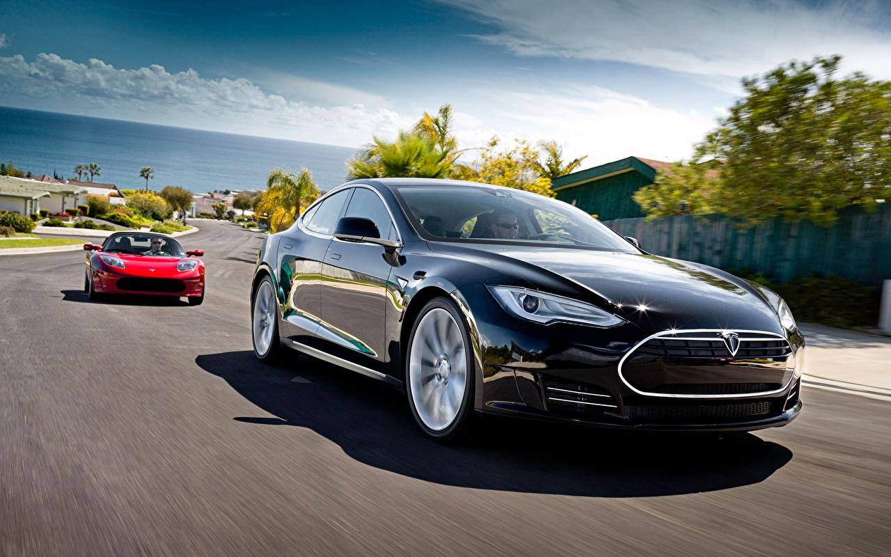 Desktop Wallpapers Tesla Motors Tesla Model S And Roadster