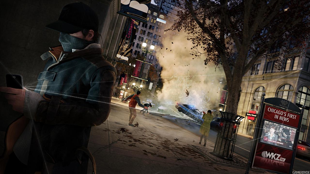Watch Dogs Homem Rua Boné de beisebol videojogo Jogos 3D Gráfica