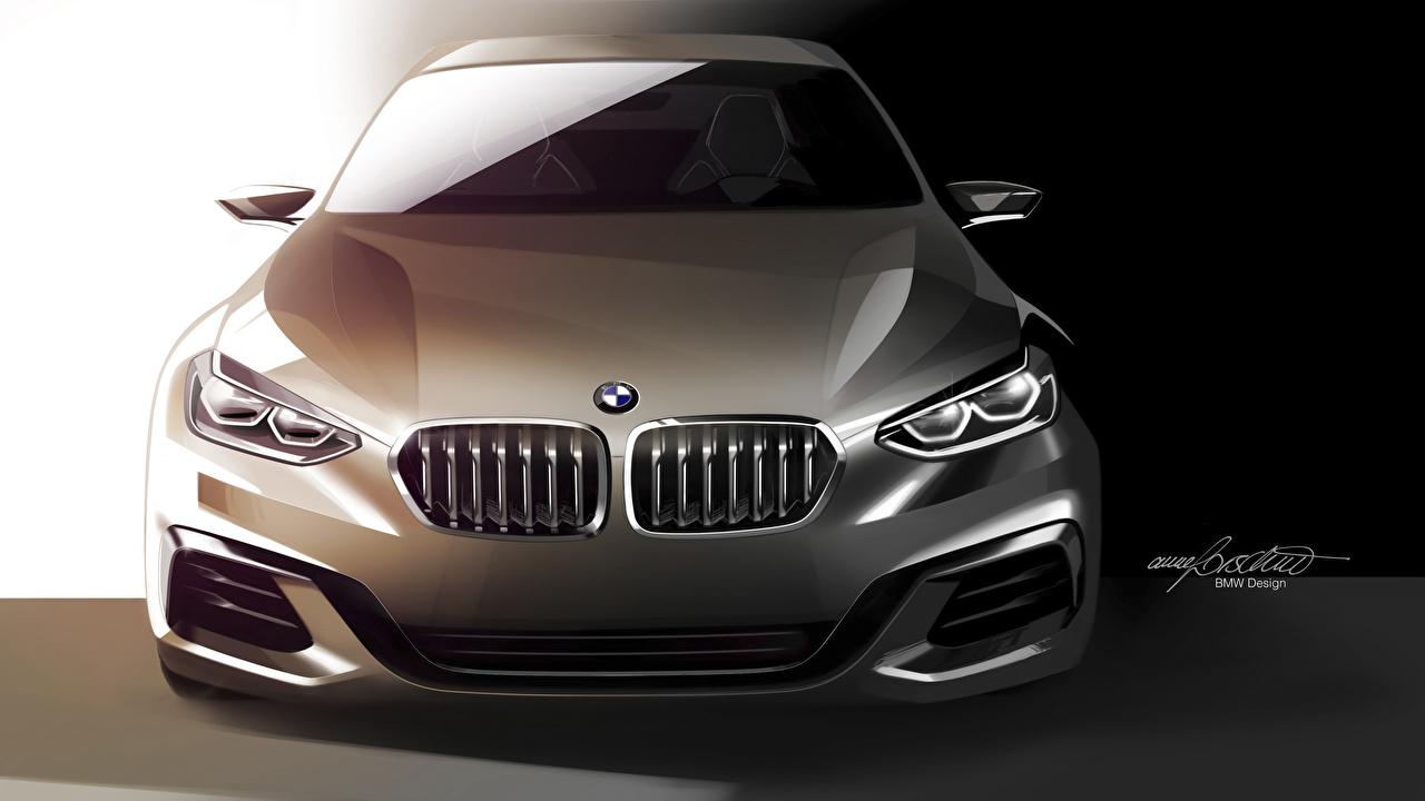 Image BMW Concept, 1-Series Sedan auto Front Vector Graphics Cars automobile