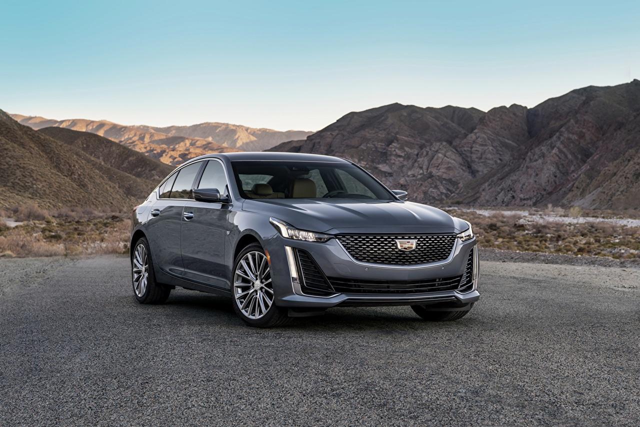 zdjęcia Cadillac CT5, 2020 Sedan szara Samochody Metaliczna Szary samochód