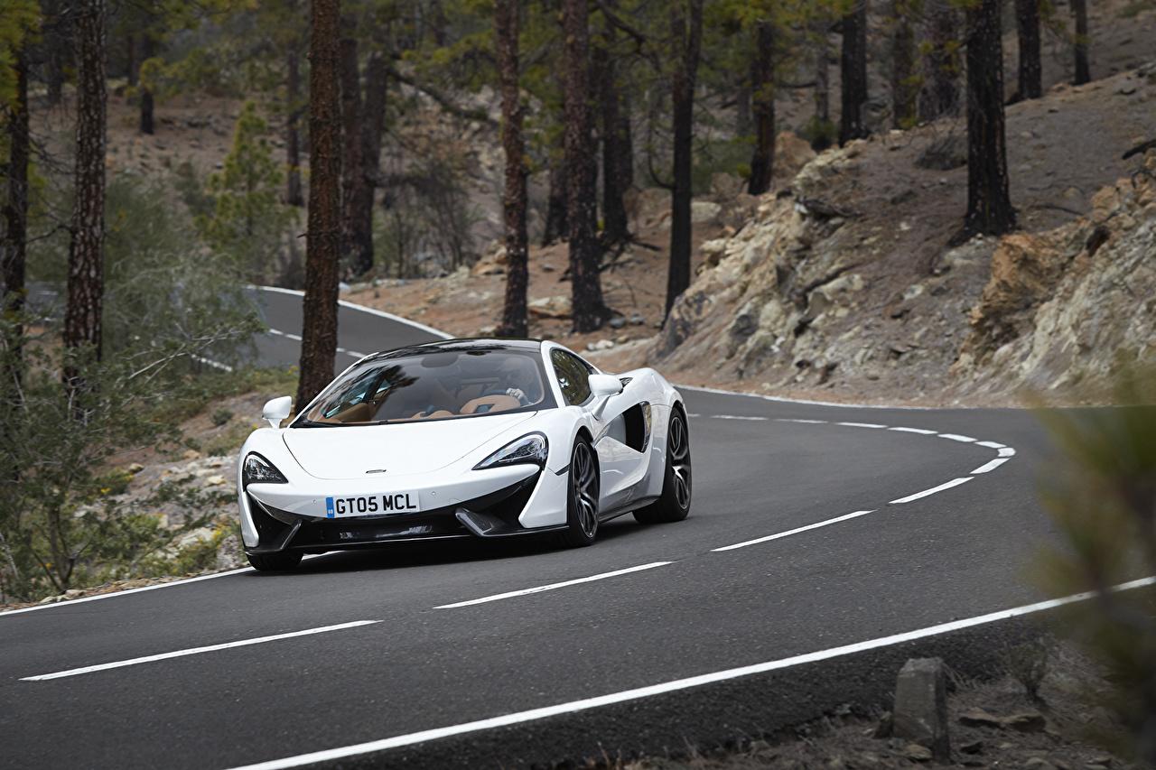Photos McLaren 570GT White auto Cars automobile