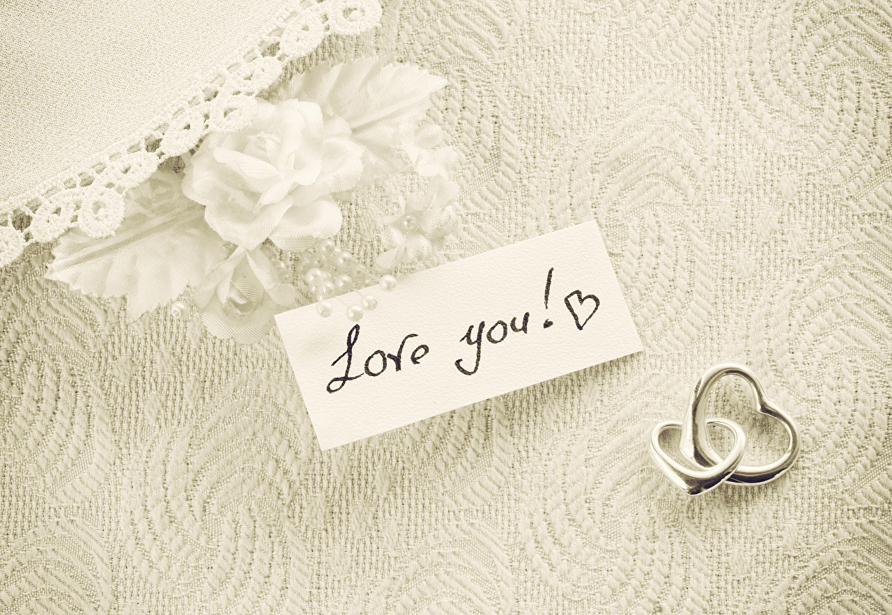 Picture Valentine's Day English love you 2 Roses Ring Two