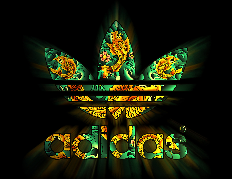 Wallpaper Adidas Logo Emblem Brand