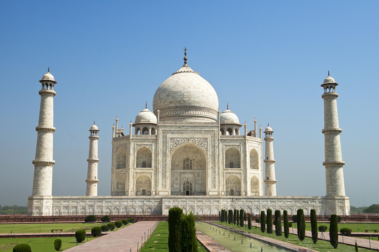 Fonds D Ecran Inde Temple Taj Mahal Agra Villes Telecharger Photo