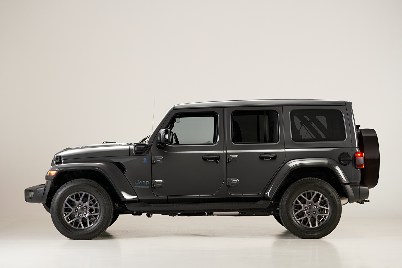 Picture Jeep SUV Wrangler Unlimited 4xe 'First Edition', EU-spec, (JL), 2021 gray Side Cars Sport utility vehicle Grey auto automobile