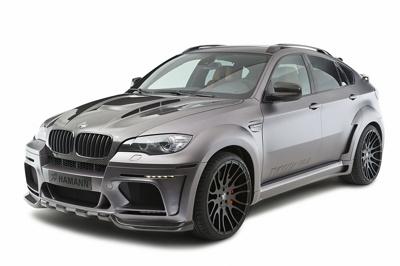 Desktop Wallpapers BMW Hamann Tycoon Evo M X6 M Grey auto Headlights gray Cars automobile