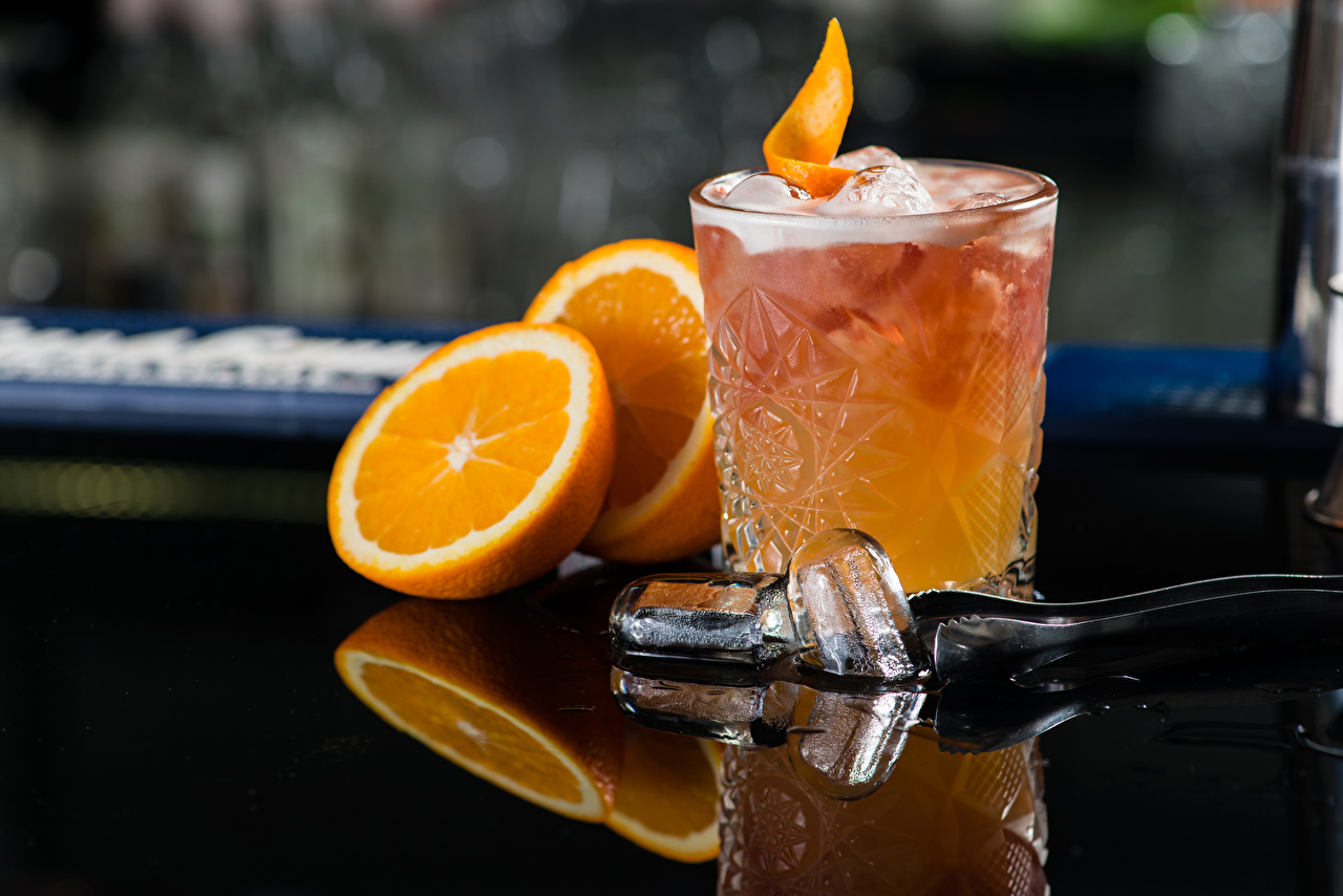 Image Alcoholic drink Ice Orange fruit Highball glass Food Cocktail Mixed drink