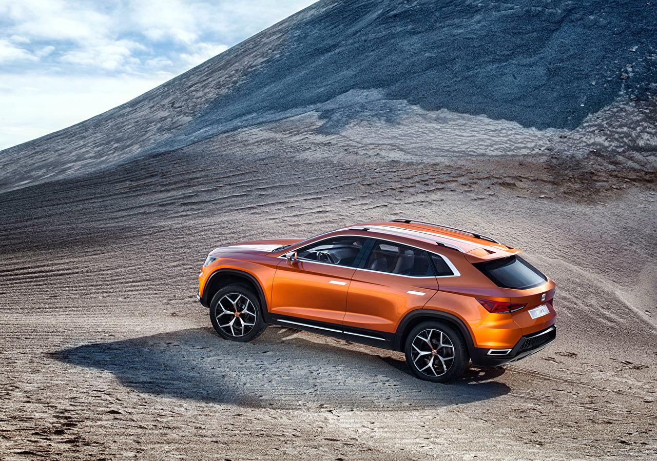 Images Seat 2015 Concept 20V20 Orange mountain Cars Side Mountains auto automobile