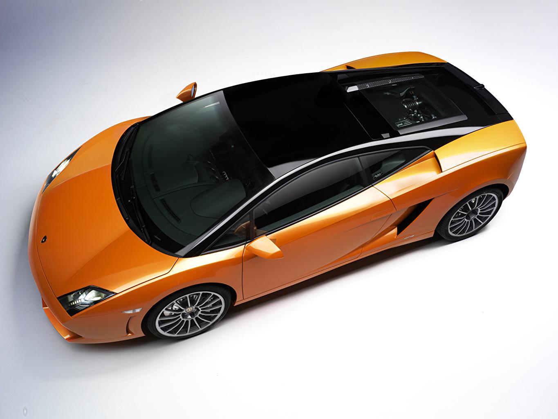 Pictures Tuning Lamborghini 2011 Gallardo LP560-4 Bicolore Orange Cars Metallic From above auto automobile