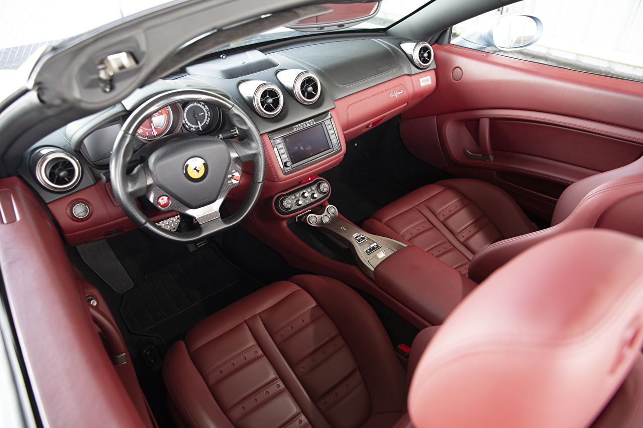 Pictures Salons Ferrari Steering wheel Leather Cars Driving wheel auto automobile