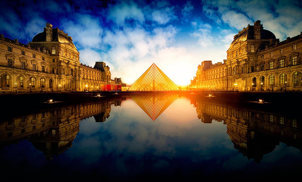 Bilder Paris Frankrike Pyramide Byer