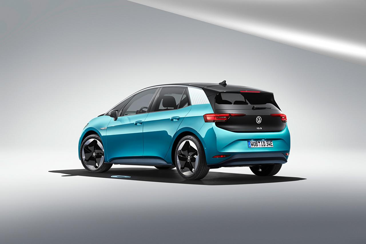 Photos Volkswagen ID.3 1ST Worldwide, 2020 Light Blue Cars Metallic auto automobile