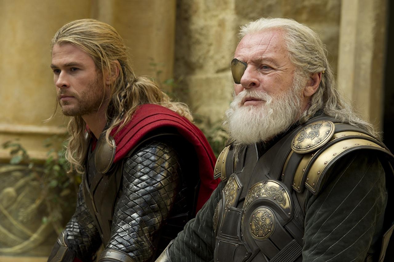 Pictures Thor: The Dark World Chris Hemsworth armour Thor hero Men Anthony Hopkins, Thor, Odin Two film Celebrities Armor Man 2 Movies