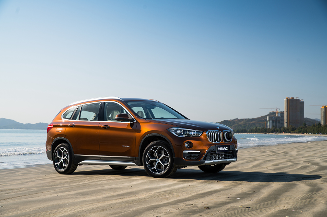 Images BMW CUV F49 Brown Side automobile Crossover Cars auto