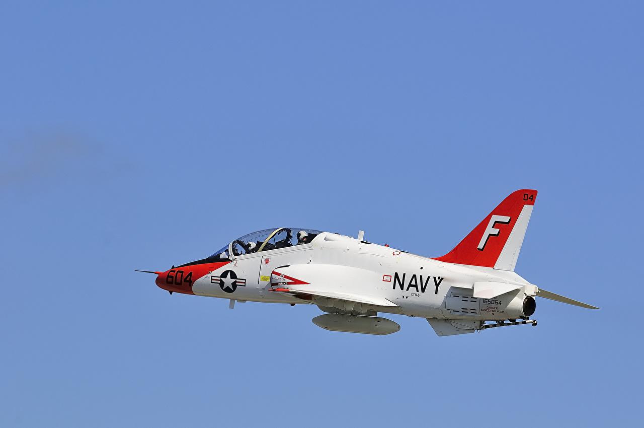 Фотографии Самолеты T-45A/C Goshawk Полет Авиация летят летит летящий
