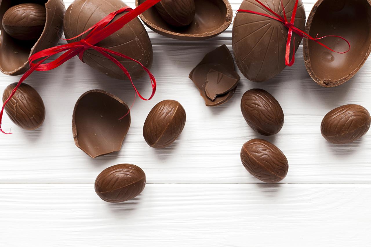 Páscoa Chocolate Ovo Laço comida, ovos Alimentos