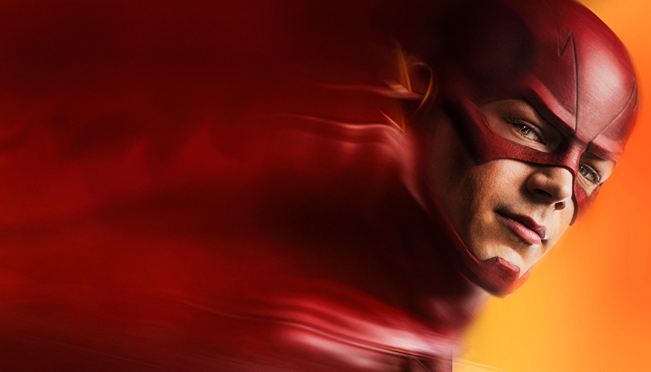 Pictures The Flash 2014 TV series The Flash hero Face Movies Masks Staring film Glance