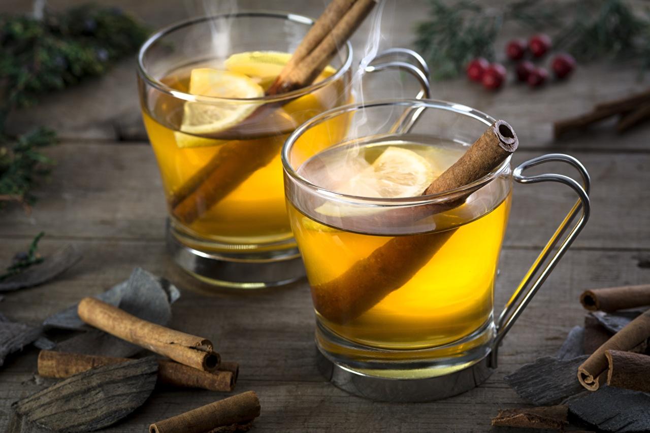 Foto Tee Zimt Zitrone Becher Lebensmittel Zitronen das Essen