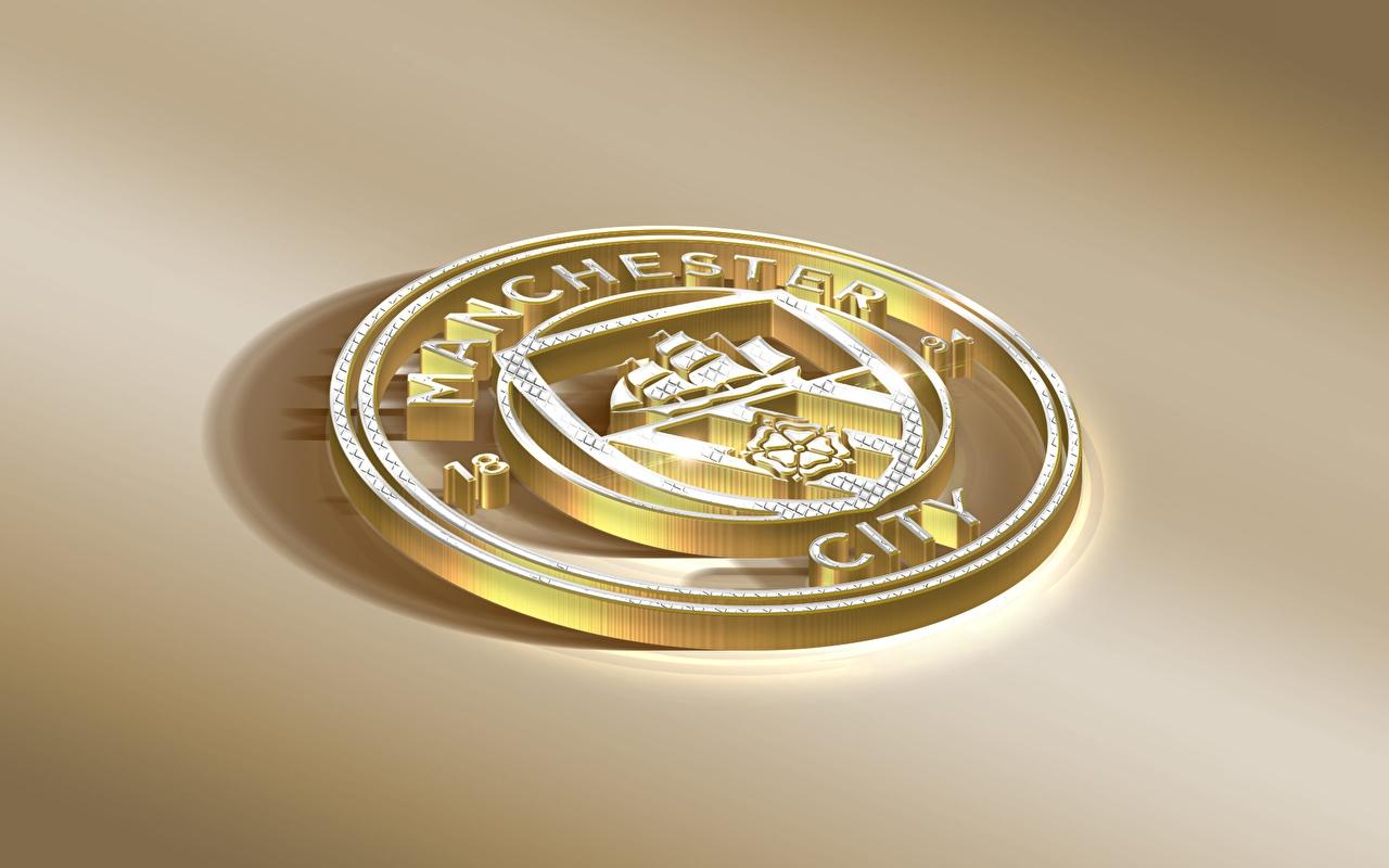 Picture Logo Emblem Manchester City, English Club Footbal