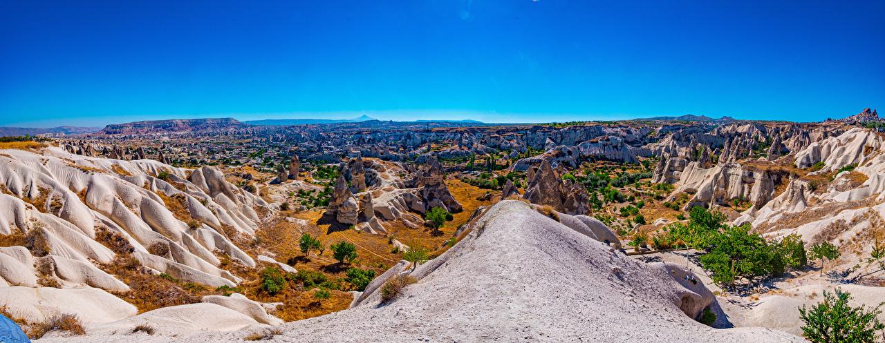 Desktop Wallpapers Nature Turkey Crag panoramic Sky park landscape photography Rock Cliff Panorama Parks Scenery