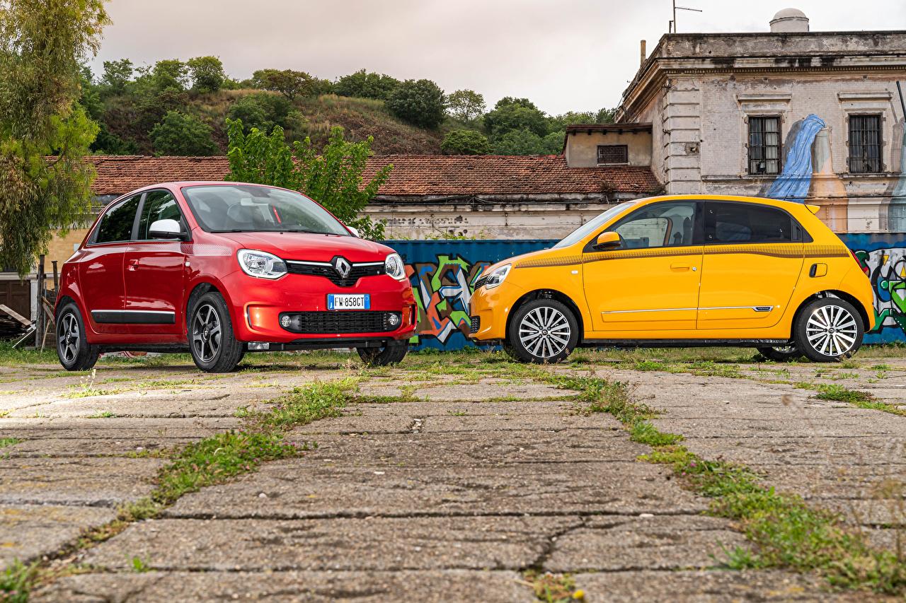 Desktop Hintergrundbilder Renault 2019-20 Twingo Worldwide Zwei automobil 2 auto Autos