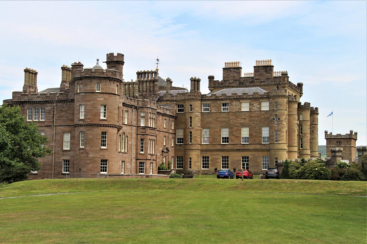 Picture United Kingdom Culzean Castle castle Lawn Cities Castles