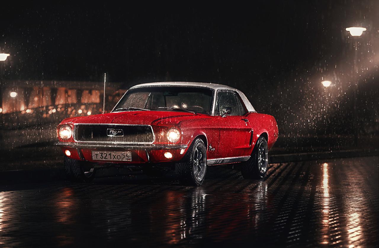 Fondos De Pantalla Ford Mustang 1967 Rojo Coches Descargar