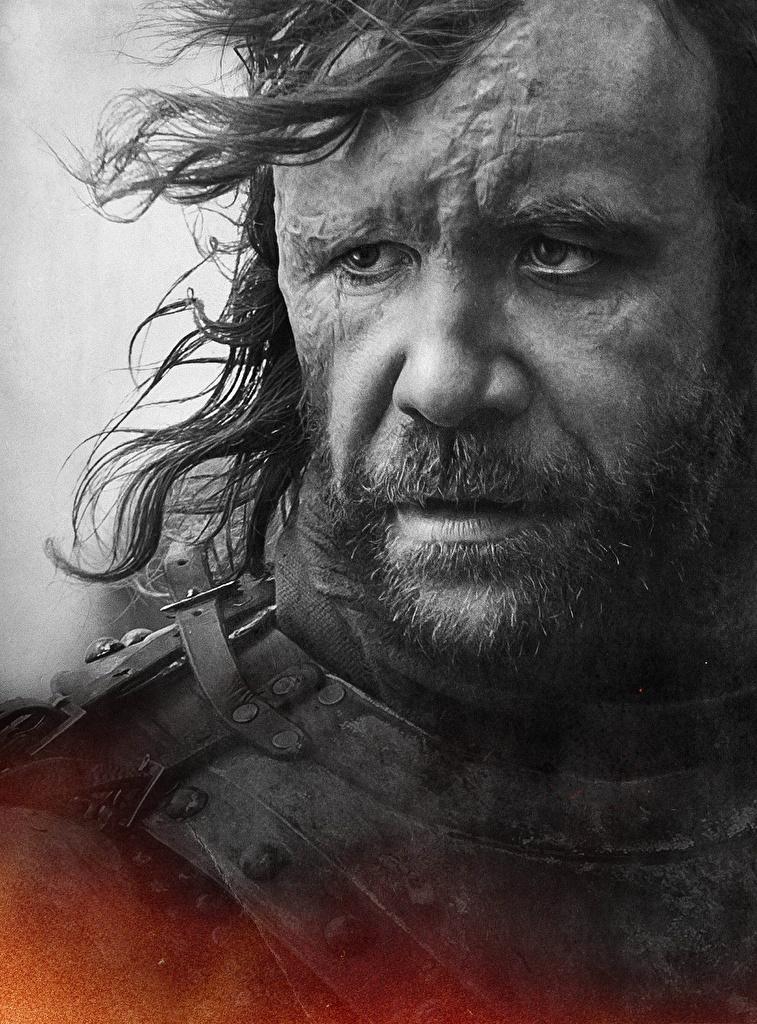Game of Thrones Varón De cerca Sandor Clegane (Dog) Cara Juego de tronos Película Celebridad para móvil Teléfono