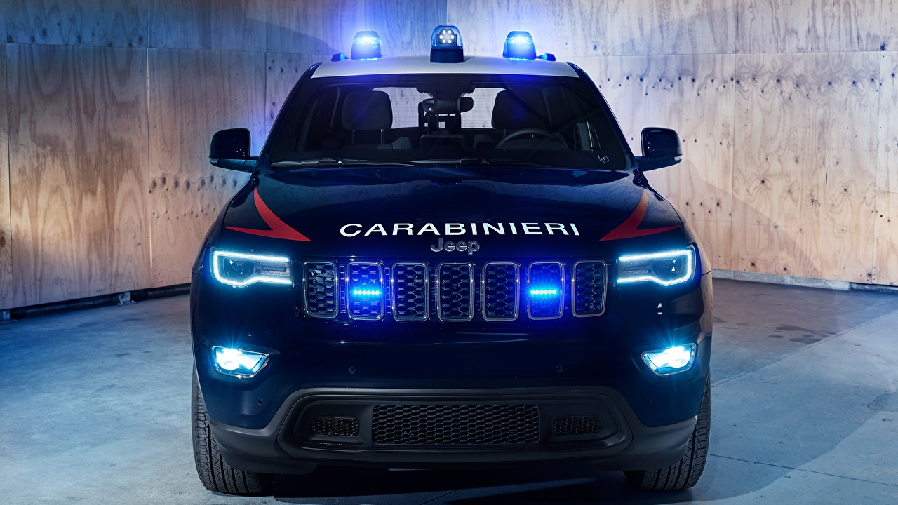 Wallpapers Jeep Police 2018 Carabinieri Grand Cherokee auto Front Cars automobile