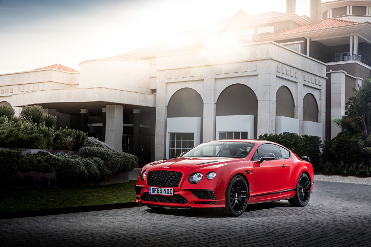 Photos Bentley 2017 Continental Supersports Worldwide Red Cars auto automobile
