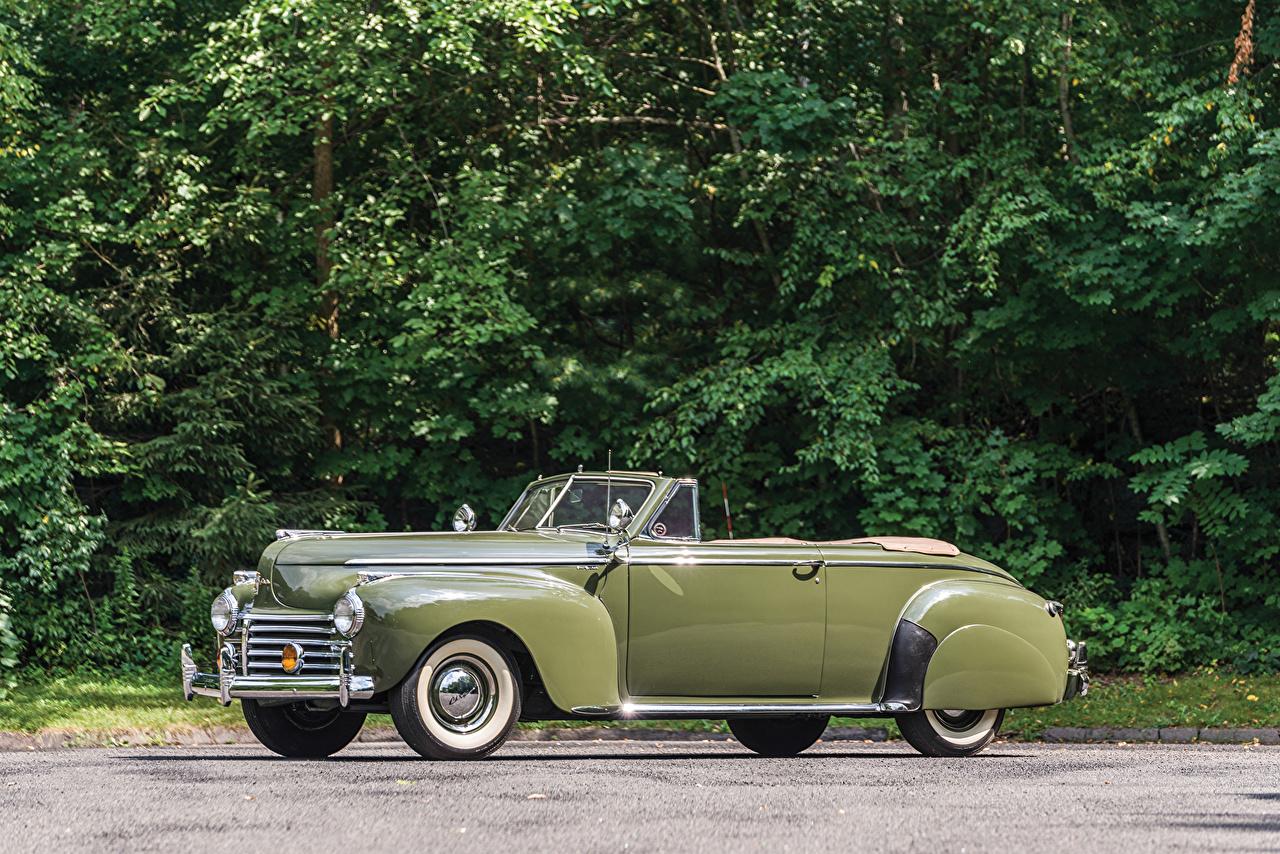 Photos Chrysler 1941 New Yorker Convertible Coupe Cabriolet vintage auto Metallic Retro antique Cars automobile