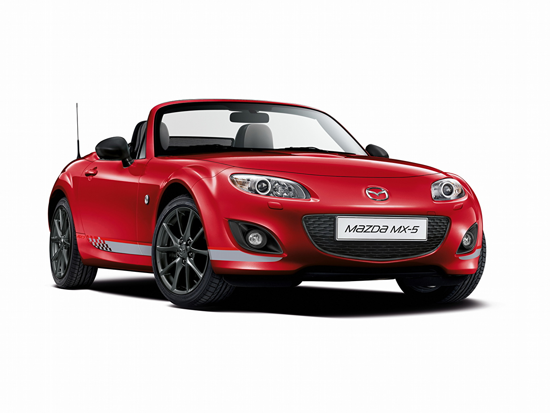 Bakgrunnsbilder til skrivebordet Mazda 2012 MX-5 Senshu Kabriolet Rød Forfra automobil bil Biler