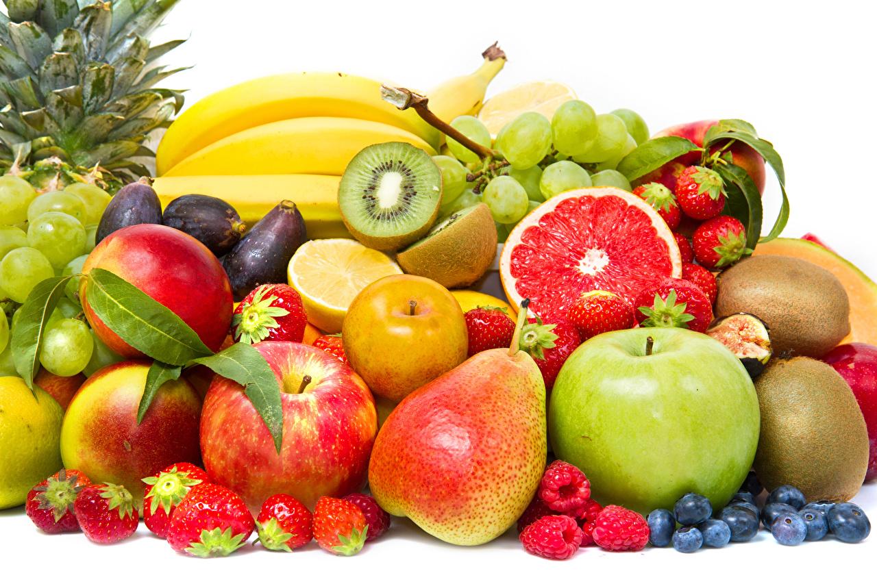 Picture Pears Apples Raspberry Strawberry Chinese gooseberry Food Fruit Kiwi Kiwifruit