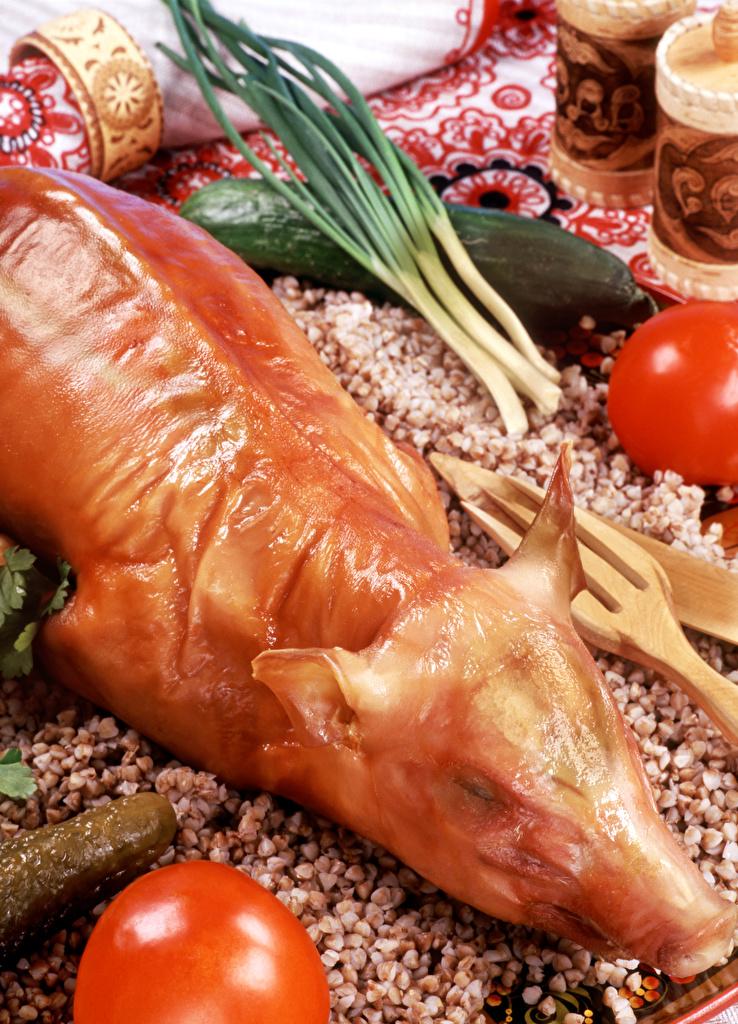 Bilder Schweinefleisch das Essen  für Handy Lebensmittel