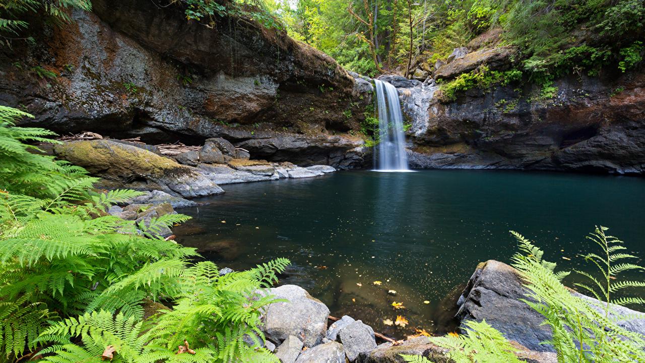 Photo Nature Waterfalls stone Stones