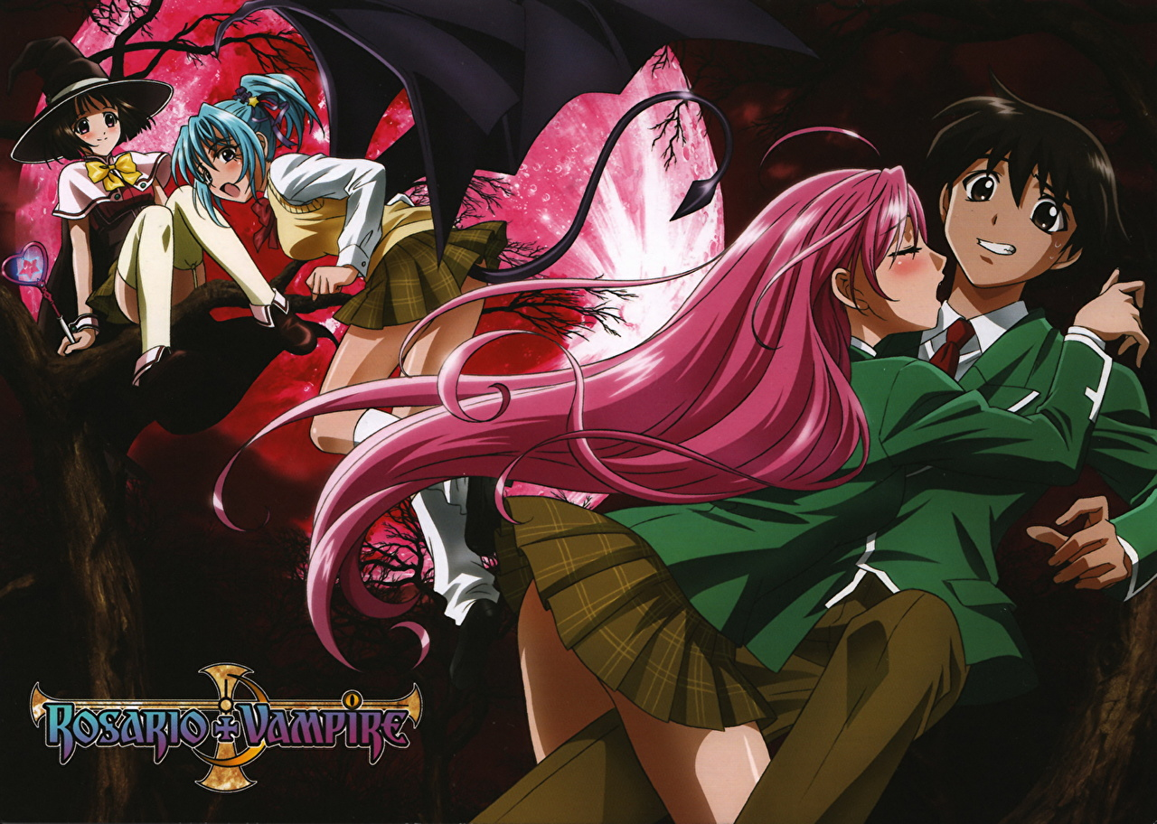 Anime De Rosario Vampire image rosario to vampire guys anime young woman