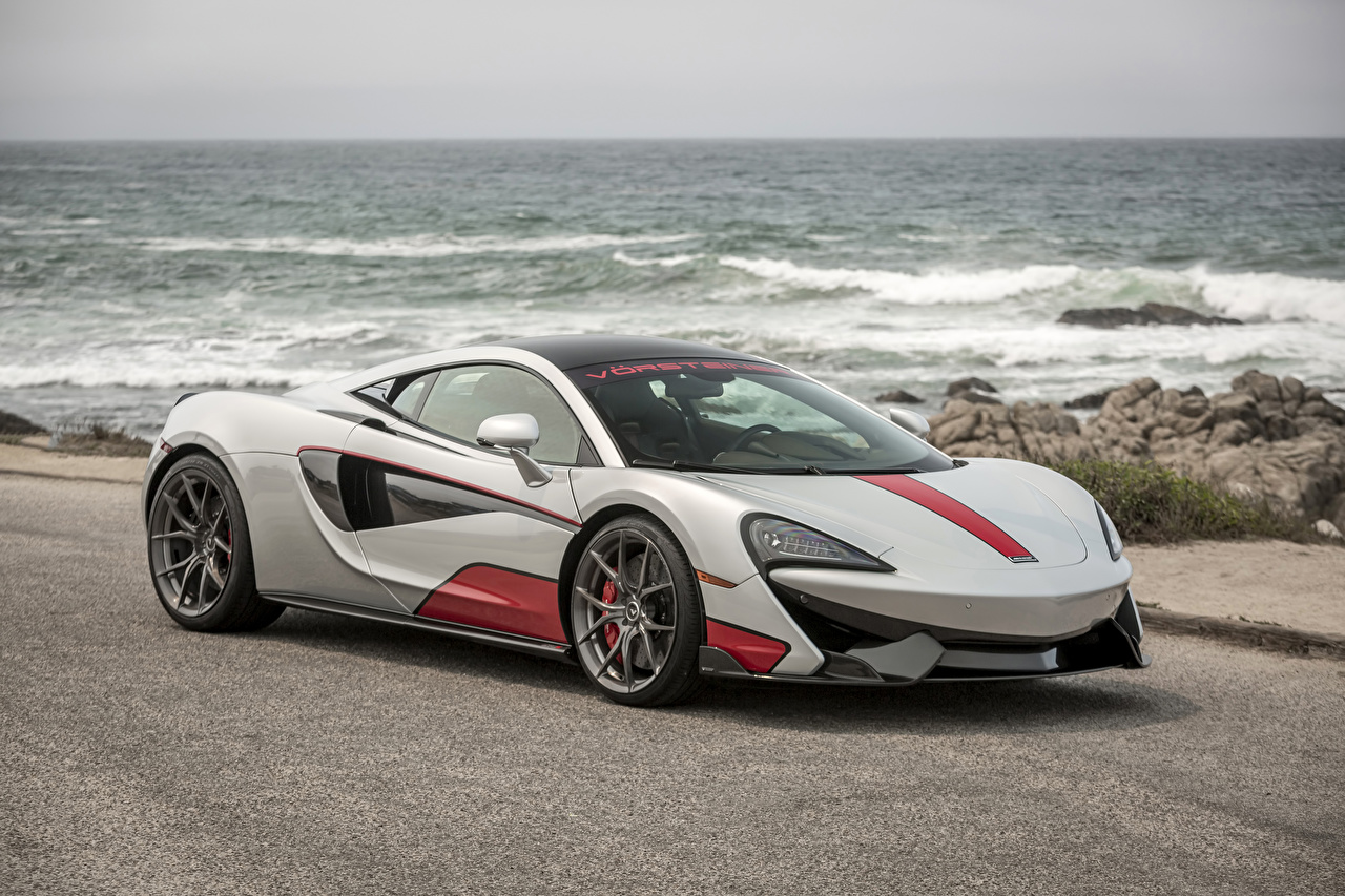 Images Tuning McLaren 2016 Vorsteiner 570-VX gray Cars Grey auto automobile