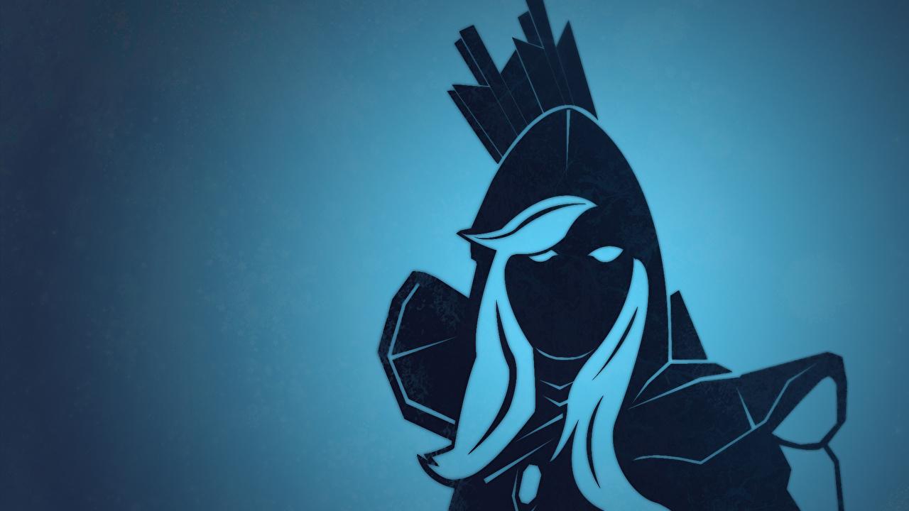Bilder DOTA 2 Drow Ranger Krieger Mädchens computerspiel Vektorgrafik junge frau junge Frauen Spiele