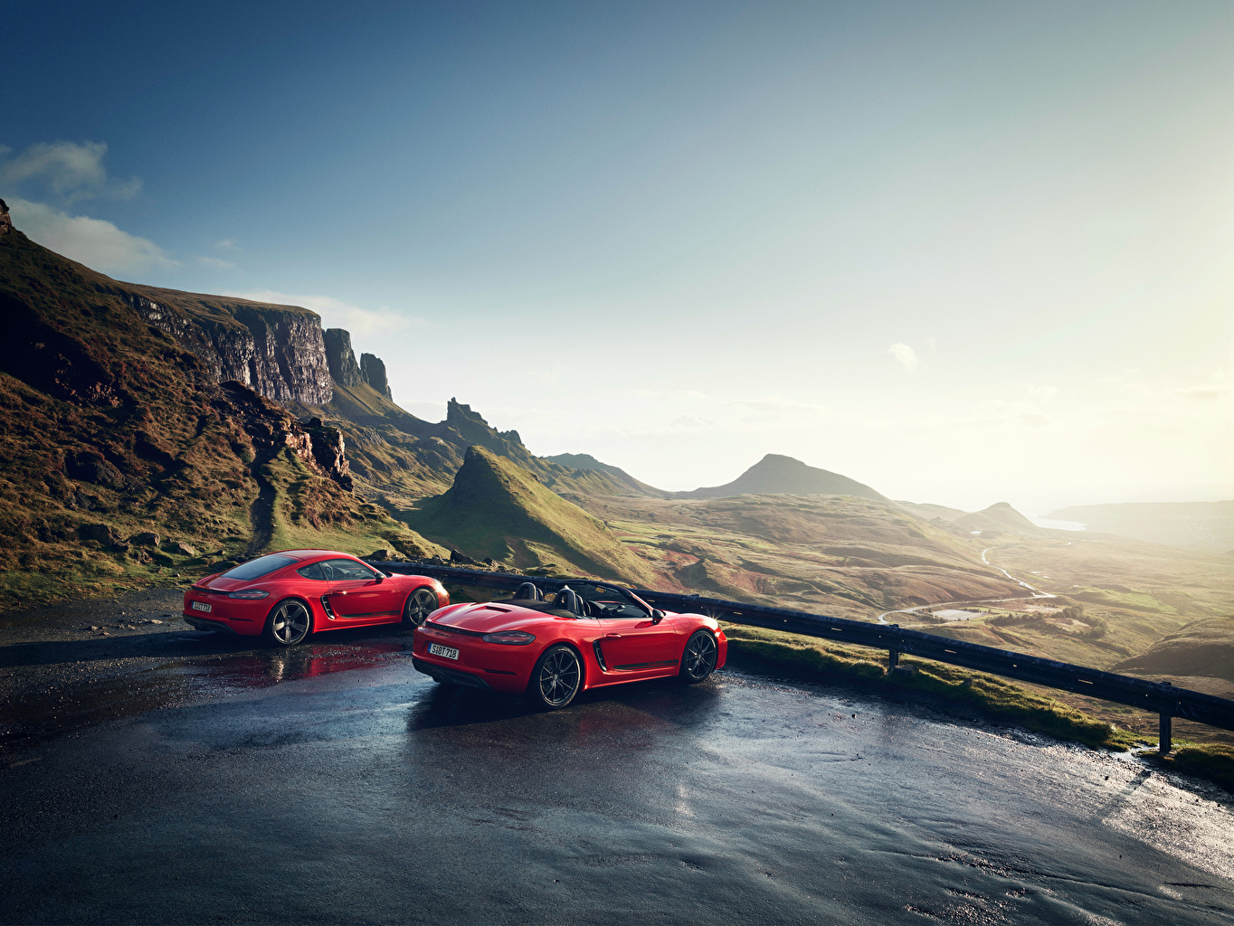Wallpaper Porsche 718 Cayman S Boxster 718 Red Red Two Metallic