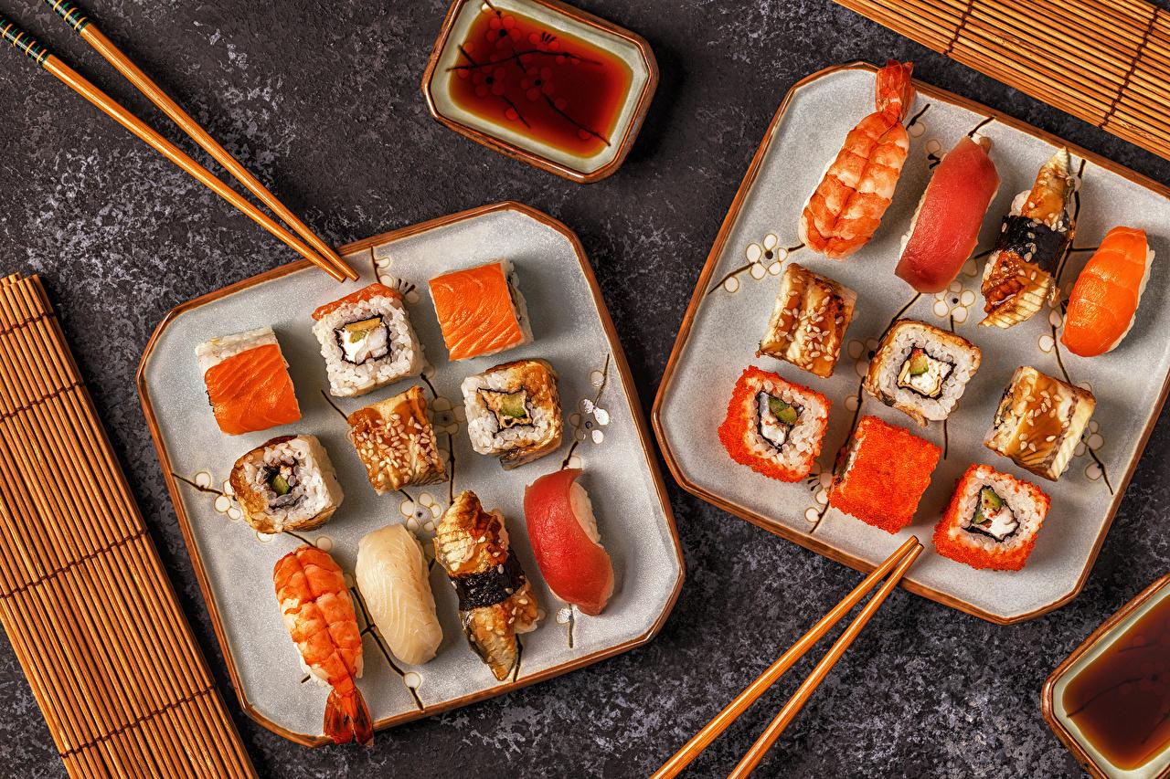 Images Sushi Food Chopsticks Seafoods