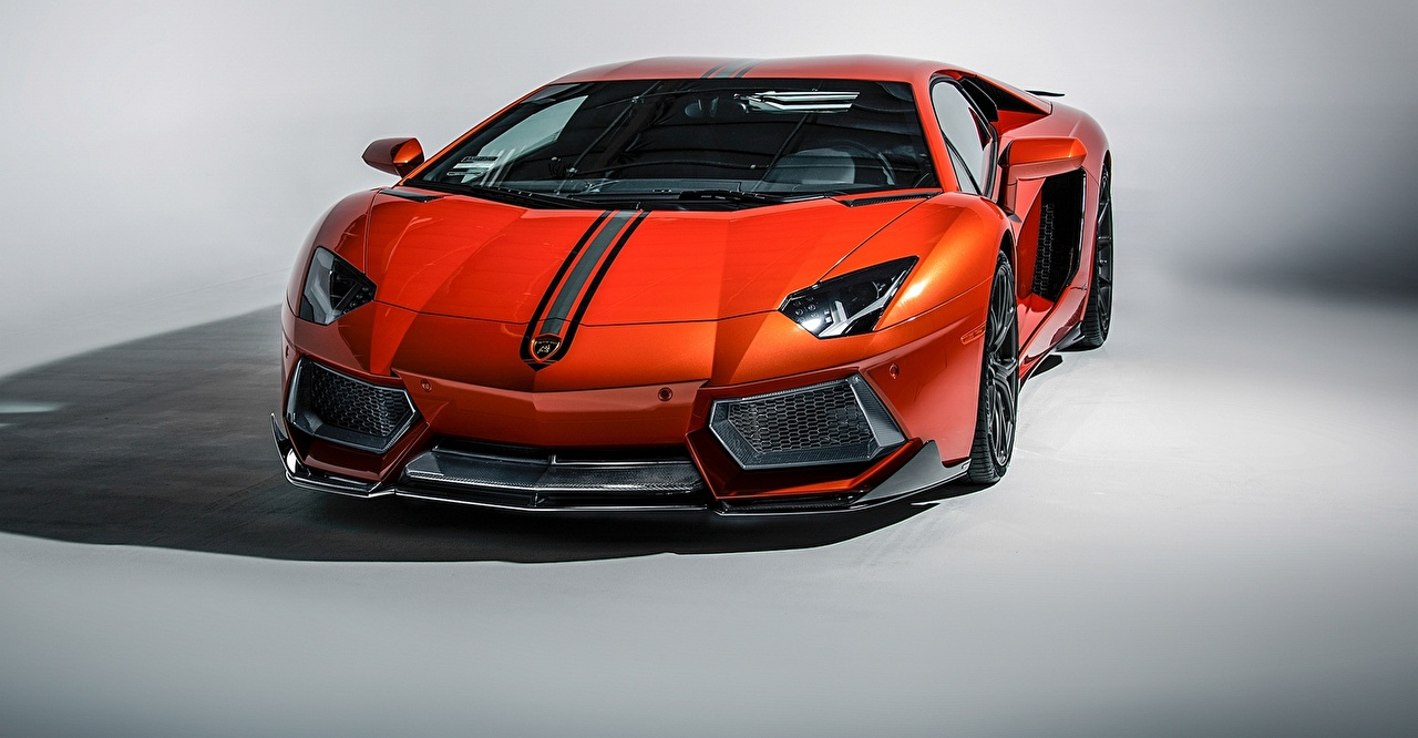 Image Lamborghini 2015 aventador lp-700-4 Coupe expensive Orange automobile Luxury luxurious Cars auto