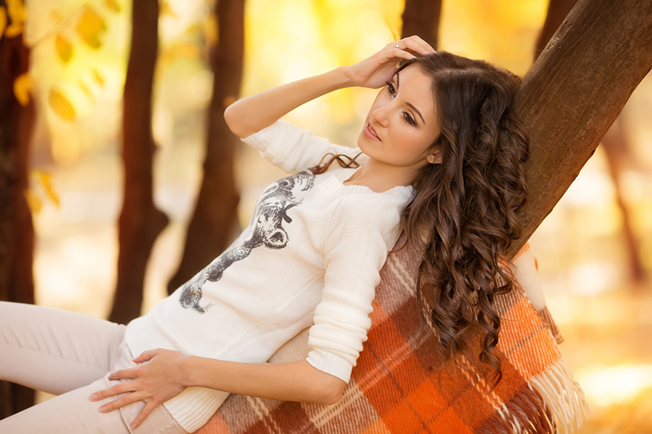 Image Brown haired Hair Girls Hands young woman