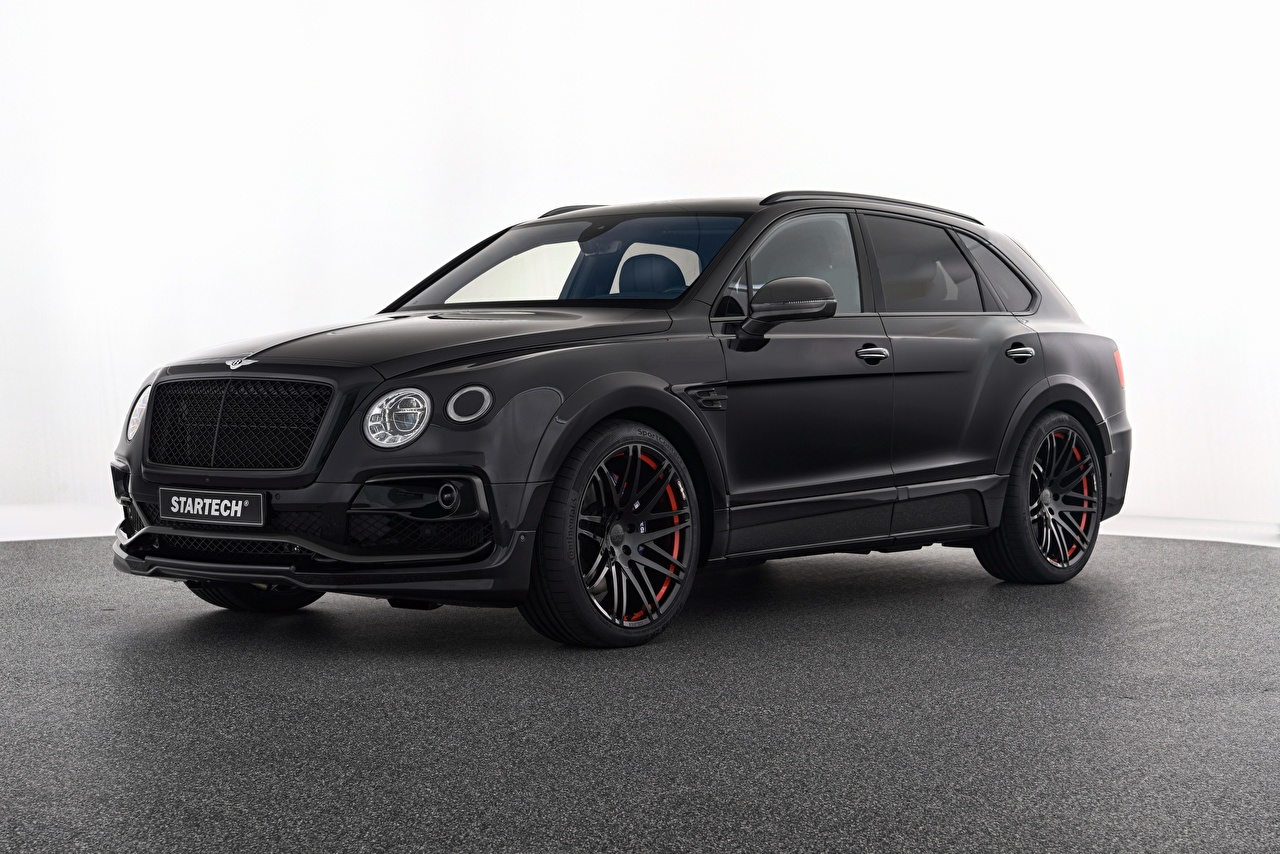 Photos Bentley Startech, Bentayga Black Cars Metallic auto automobile