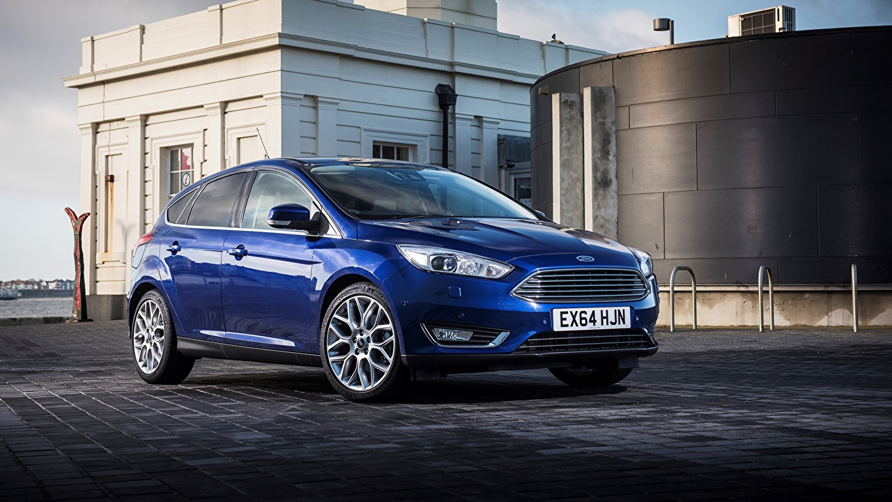 Picture Ford 2014 Focus UK-spec Blue auto Cars automobile