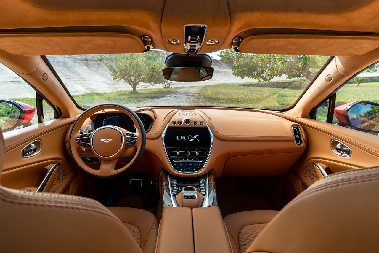Images Salons Aston Martin CUV DBX V8 Interior Cars Design Crossover auto automobile