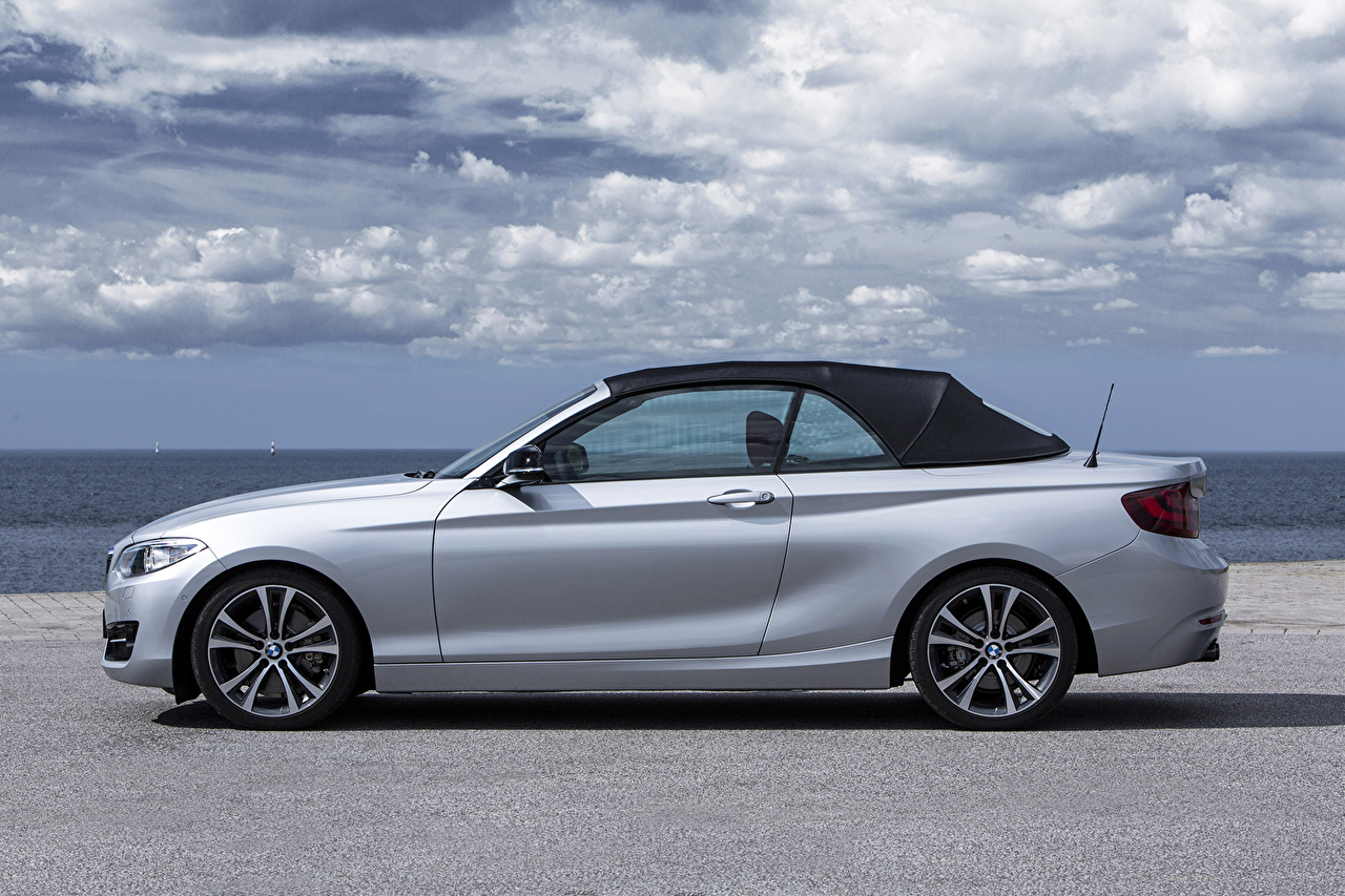 Images BMW 2015 228i (F23) convertible Silver color Side Cars Clouds auto automobile